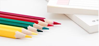 多彩色蠟筆